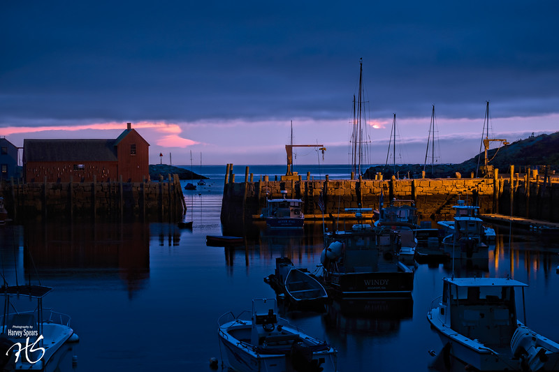 Dawn on Rockport Harbor