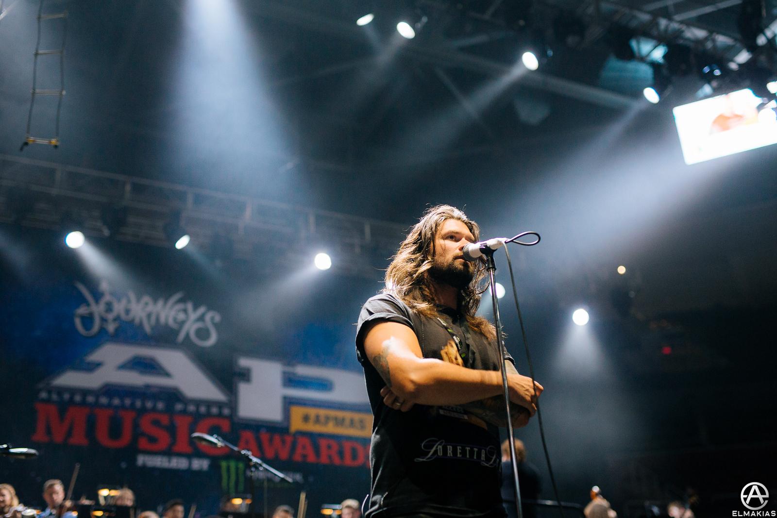 Adam Lazzara of Taking Back Sunday at rehearsals for the Alternative Press Music Awards 2015 by Adam Elmakias