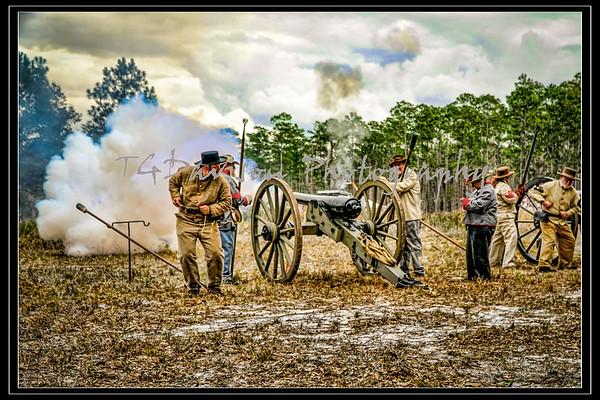 Olustee Civil War Event Artillery Shots 2020