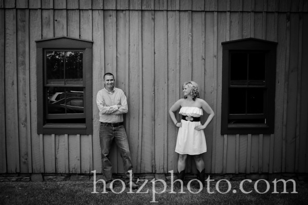 Whitney and Andrew B/W Engagement Photos