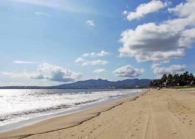 Beach at Bucerias in Low Season, Mexico