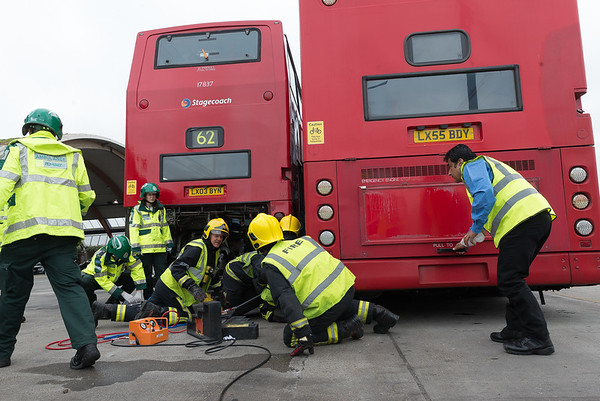 Exercise/Drill London West Ham Bus Garage 180516