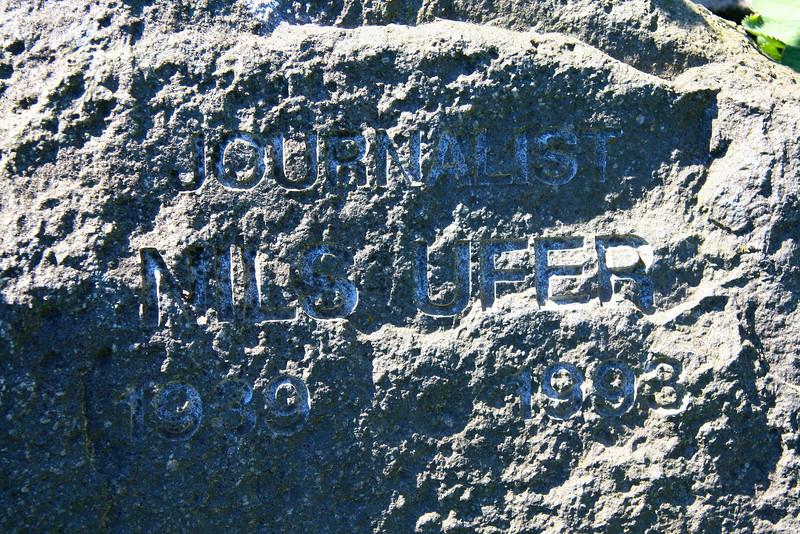 Assistens Kirkegård - maj 2006 Grave of journalist and editor Nils Ufer
