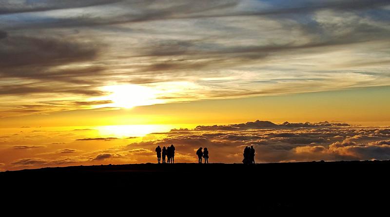 A sunset atop Mt. Haleakala  (May, 2015)