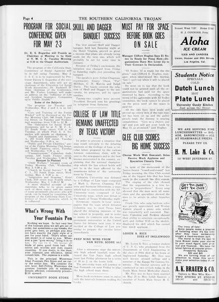 The Southern California Trojan, Vol. 7, No. 109, May 02, 1916