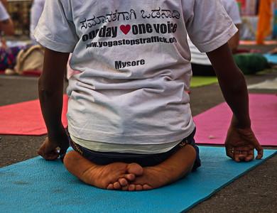 Yoga Stops Traffic