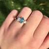 1.73ctw Blue Marquise Cut Diamond Trilogy Ring 6