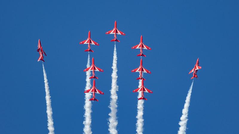 BAe, British Aerospace, Hawk T1, RAF, RIAT 2015, Red Arrows, Royal Air Force, Split