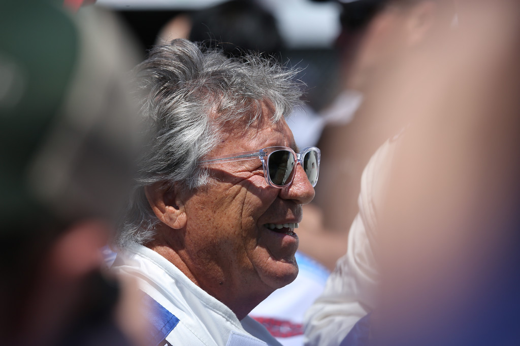 . Mario Andretti at the 41st Toyota Grand Prix of Long Beach, Sunday, April 19th, 2015.  Chuck Bennett/Staff Photographer.