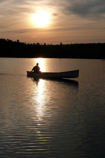 Evening Stroll. Lac Jean-Peré, La Vérendrye Wildlife Reserve