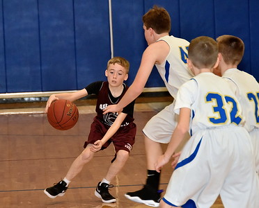 AMHS Boys M.S. Basketball vs Granville photos by Gary Baker