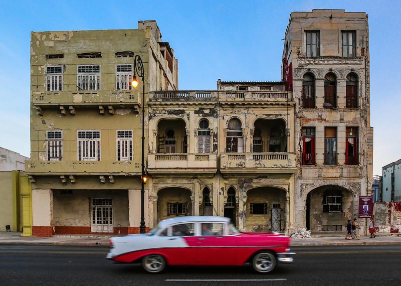 Classic Cars on the Havana Malecon 9