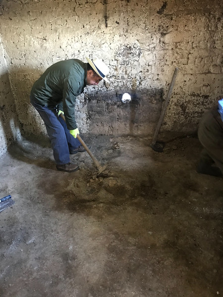 Jose prepares the ground for a new stove