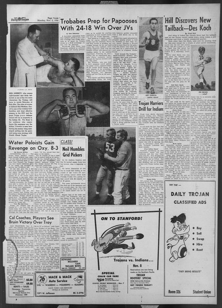 Daily Trojan, Vol. 44, No. 36, November 03, 1952