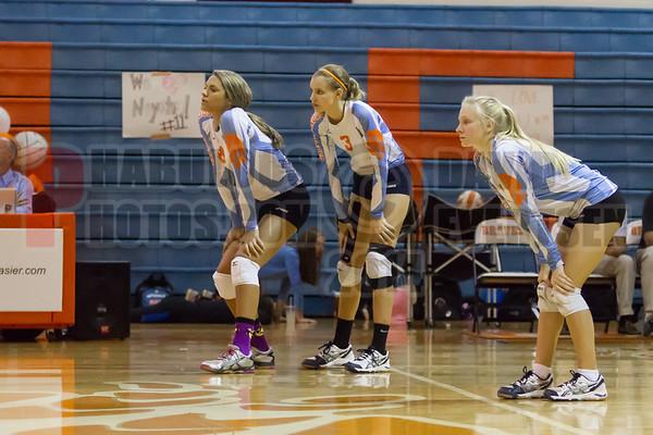 West Orange Warriors @ Boone Braves Girls JV Volleyball -  2014