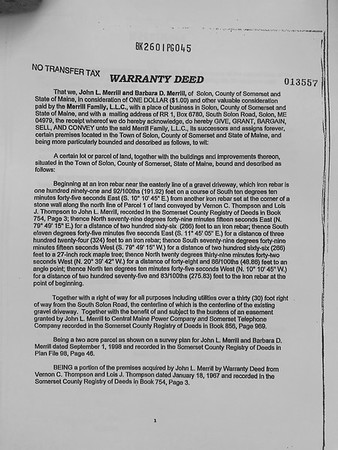 Maine property documents