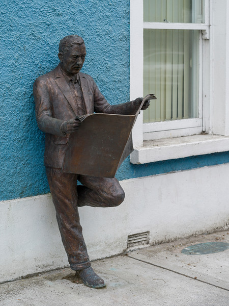 Western Day, a bronze sculpture by Sally McKenna, Kiltimagh, County Mayo, Republic of Ireland