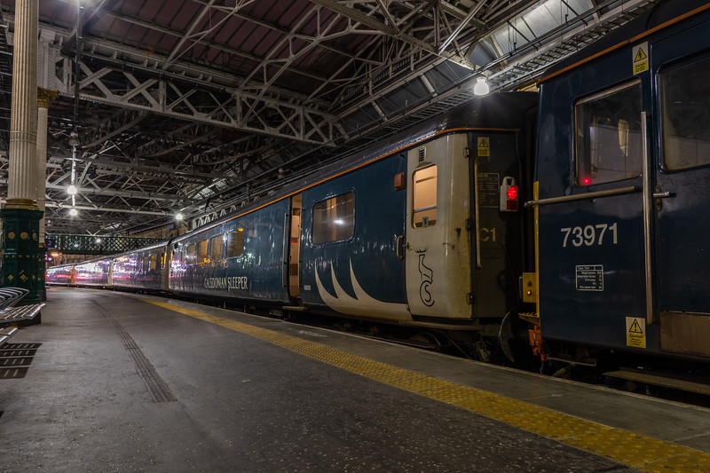 Mark 2 Brake - Caledonian Sleeper at Edinburgh