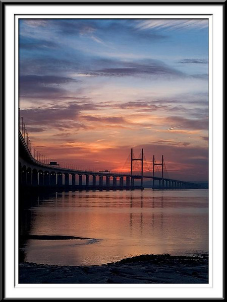 Second Severn bridge over river to Wales (60813002).jpg