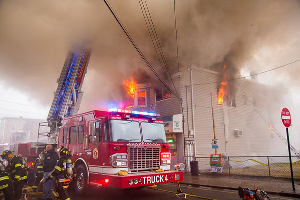 Garfield NJ 3rd Alarm, 103 & 105 Jewell St. 10-25-15