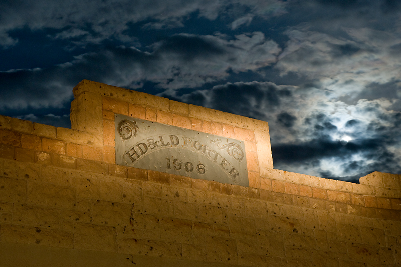 HD & LD Porter Mercantile Rhyolite, NV  The moon and clouds give this a look of a HDR composite, but it was captured in a single shot.