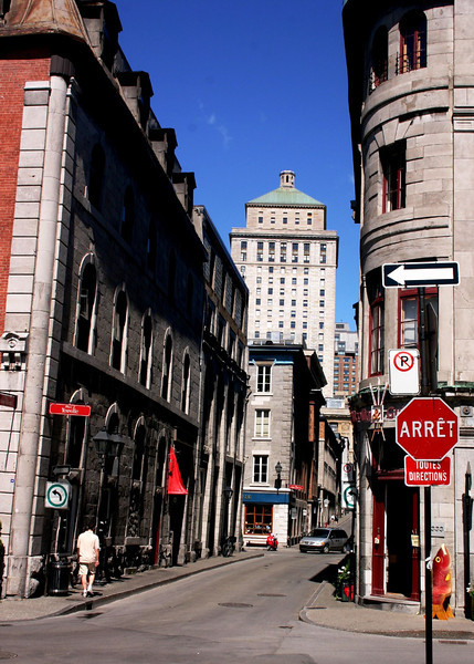 Stop sign in Old Montreal