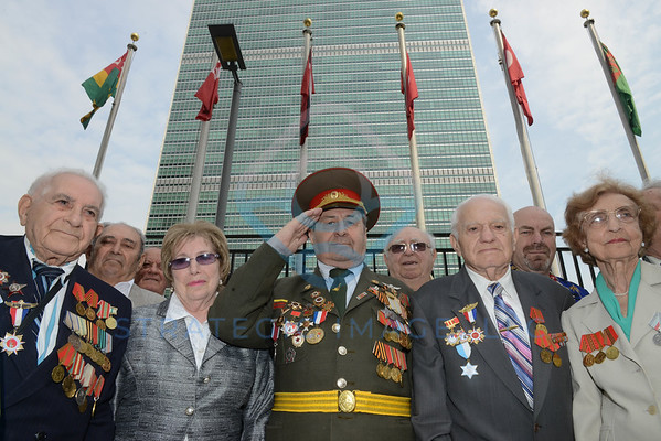 JEWISH RED ARMY VETERANS GATHER AT UN