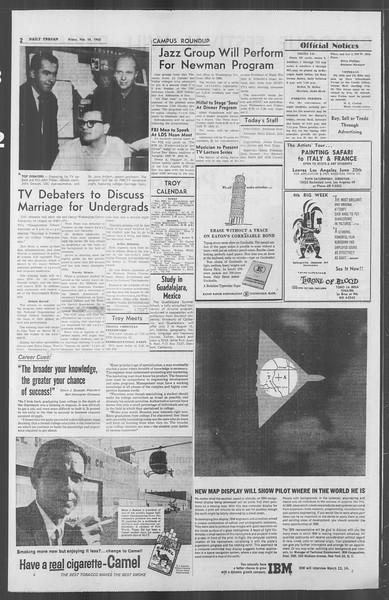 Daily Trojan, Vol. 53, No. 71, February 16, 1962