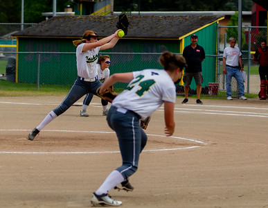 Set one the Seniors Night game: Vashon Island High School Fastpitch v Seattle Christian