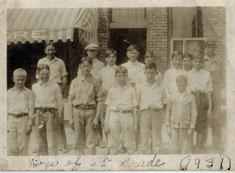 Thomaston 6th Grade Boys - 1931