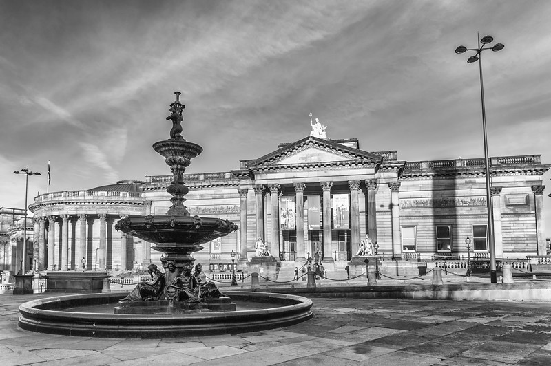 Steble Fountain and Walker Art Gallery, Liverpool