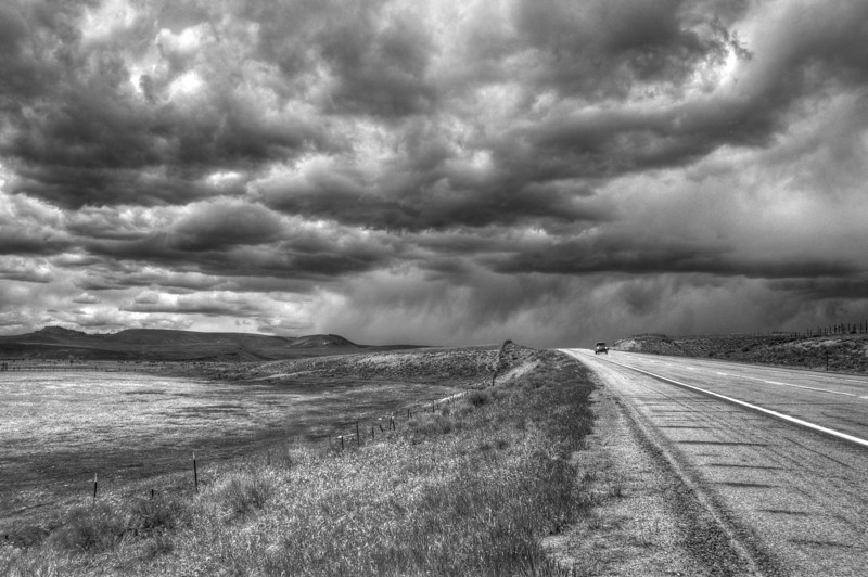 Running from the Storm. Route 50, Colorado.