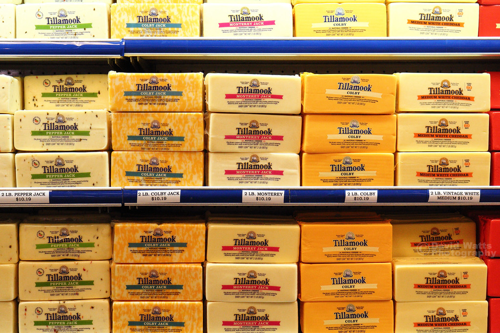 Lots of Cheese at Tillamook