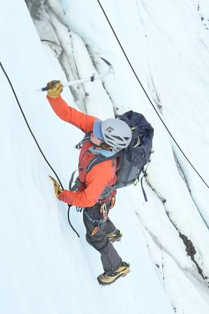 Photos from client ice climbs