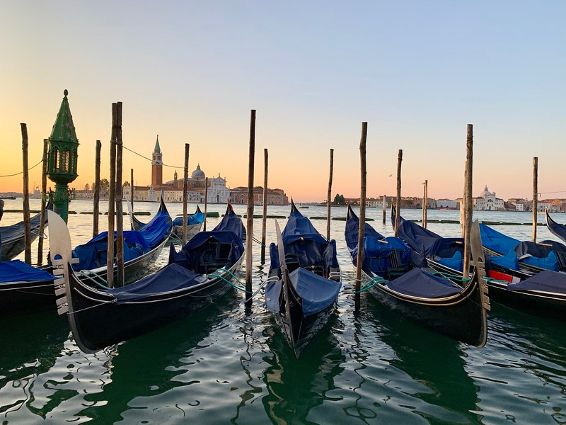 Venice, Italy at sunrise
