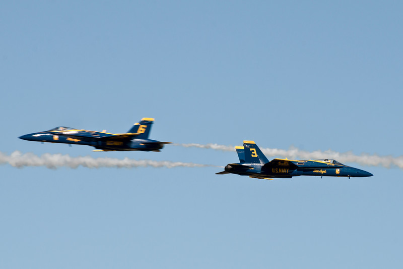 Speeding Blue Angels