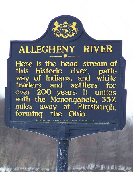 Allegheny River sign