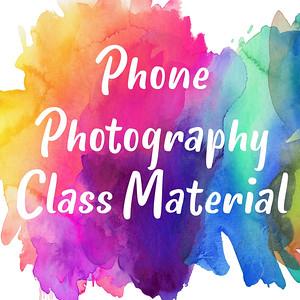 Phone Photography Class
