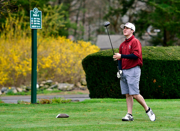 4/30/2019 Mike Orazzi | Staff Bristol Central's Austin Salzillo Tuesday's match with Bristol Eastern at Chippanee Golf Club.