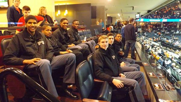 PG Basketball at UVA Basketball Game