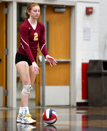 11/14/2019 Mike Orazzi | StaffrSt. Joseph High School's Brittany Mairano (2) during the Class L Second Round Girls Volleyball Tournament at BCHS. rr