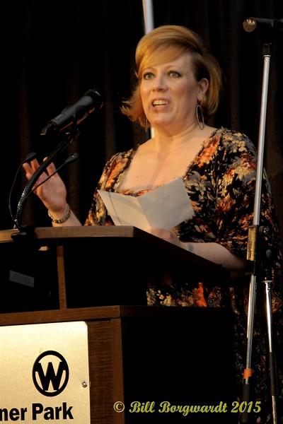 Laura Fraser of Warner Music accepts Male Artist of the Year Award for Brett Kissel - ACMA Awards Show 2015