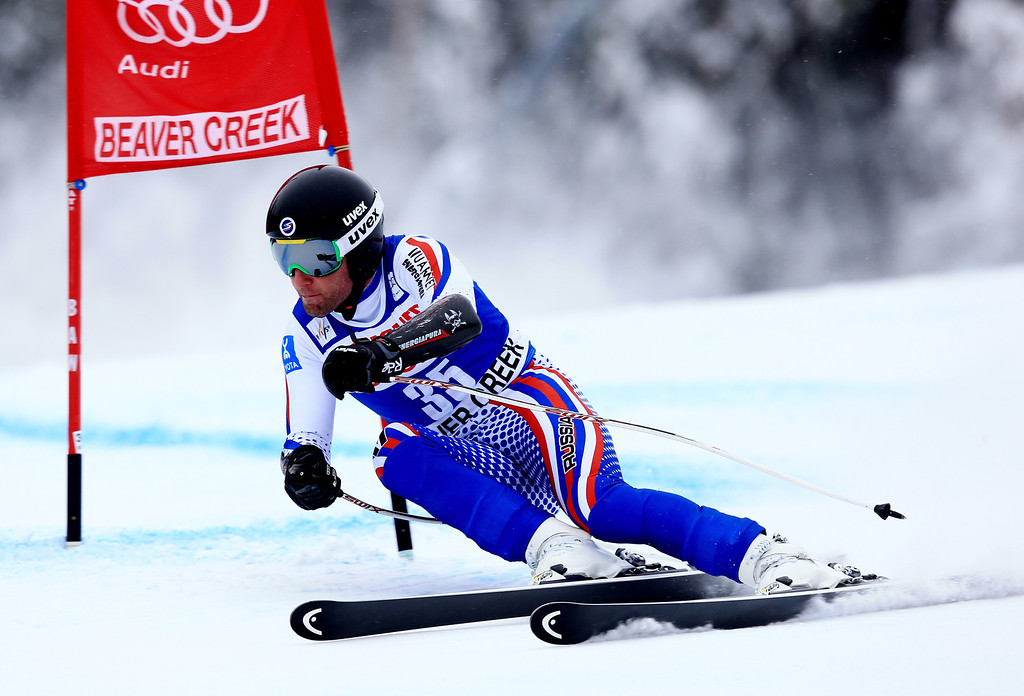 . Alexander Glebov of Russia in action during the 2013 Audi FIS Beaver Creek World Cup Men\'s Super G race on December 7, 2013 in Beaver Creek, Colorado.  (Photo by Doug Pensinger/Getty Images)