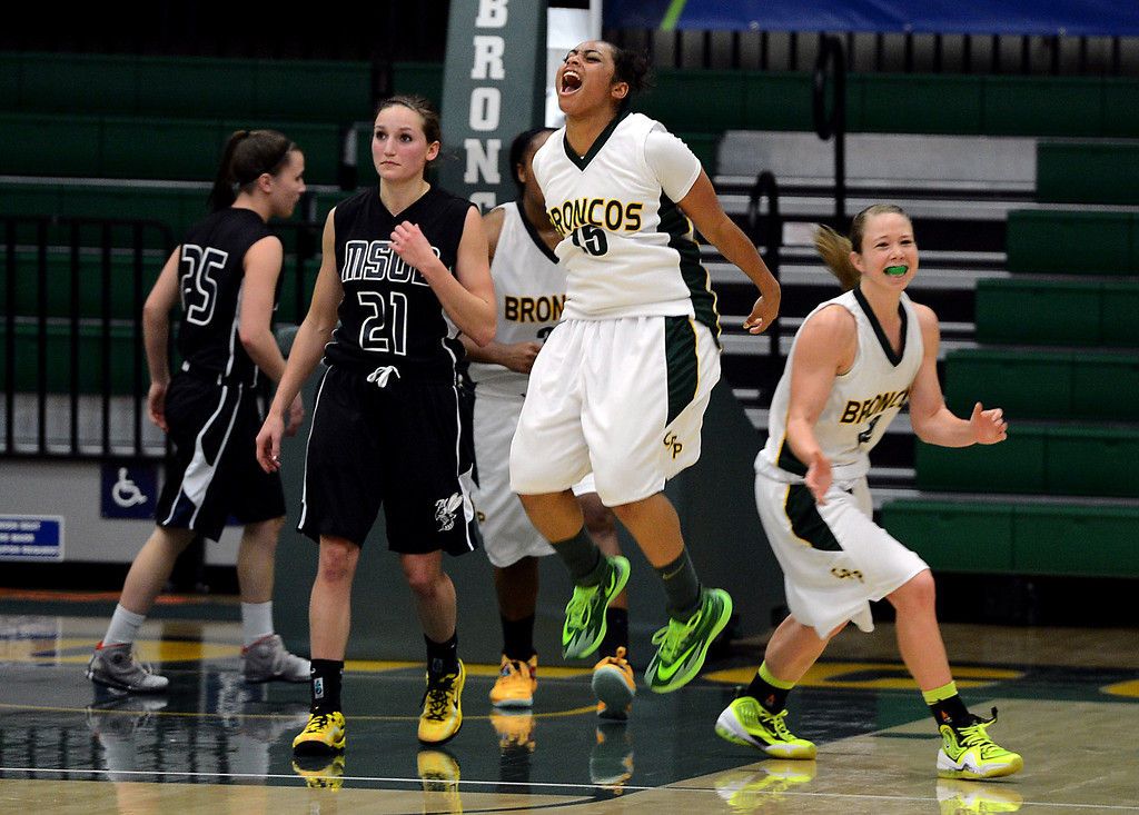 . Cal Poly Pomona (white) vs Montana State Billings (black) women\'s basketball NCAA Division II West Regional championship game action at Cal Poly Pomona in Pomona, CA, Monday, March 17, 2014. (Photo by Jennifer Cappuccio Maher/Inland Valley Daily Bulletin)