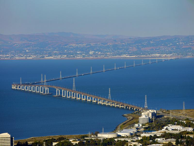 The San Mateo bridge.
