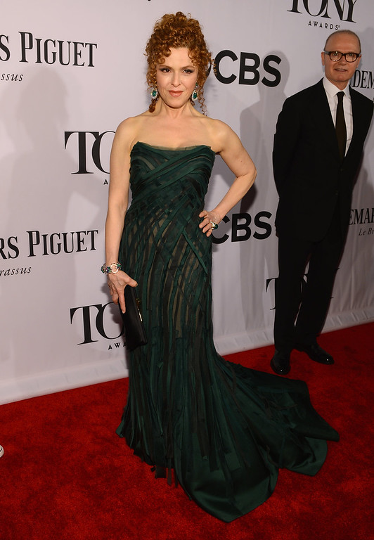 . Actress Bernadette Peters attends The 67th Annual Tony Awards at Radio City Music Hall on June 9, 2013 in New York City.  (Photo by Larry Busacca/Getty Images for Tony Awards Productions)