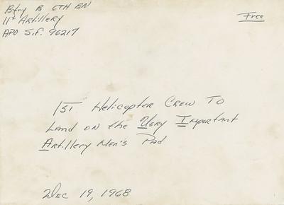 B Battery X-Mas Card 1968