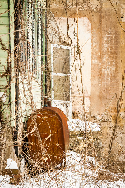 Rusty Oil Tank at the Abandoned Farmhouse