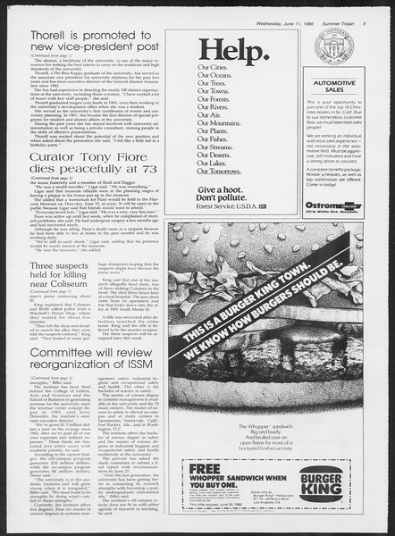 Summer Trojan, Vol. 101, No. 4, June 11, 1986