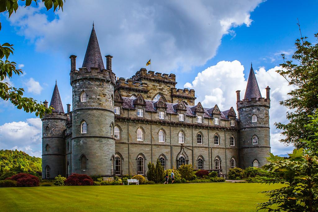 苏格兰Inveraray城堡,童话里的古堡